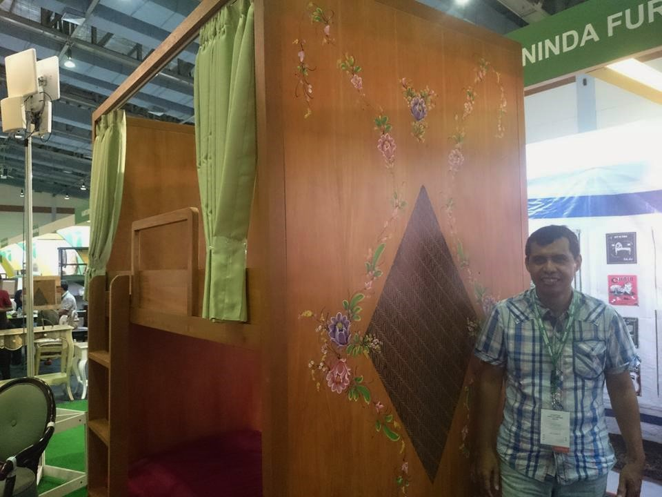 Aninda Furniture, Furniture Indonesia 2016. Dokumentasi: Sari Novita
